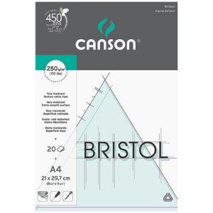 Canson 457.120 - Bloc de 20 feuilles bristol Graphic 250 g non perforées (A4)