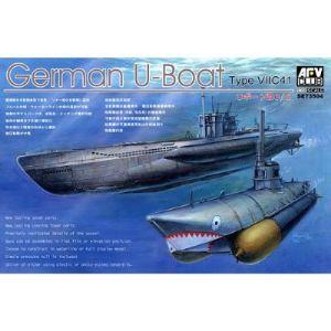 AFV Club AF73504 - Maquette sous-marin Allemand U-Boat Type VII C/41 - Echelle 1:350