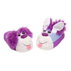 LGRI Chaussons chien violet 31/33