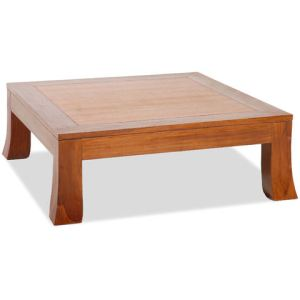 Table basse carrée Pasha en teck massif