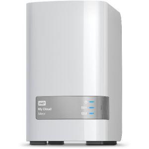 """Western Digital WDBZVM0080JWT - Serveur NAS My Cloud Mirror 8 To 2 baies 3.5"""" Ethernet"""