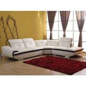 Canapé d'angle droit Lomande en cuir