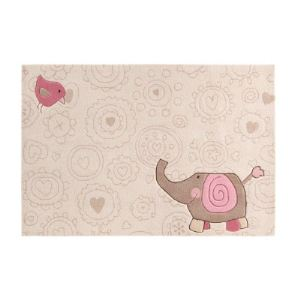 Sigikid Tapis de tapis enfant Happy Zoo Eléphant (120 x 180 cm)