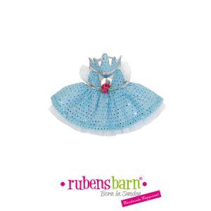 Rubens Barn Robe princesse en bleu pour poupée little rubens