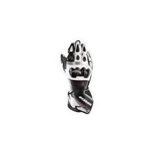 Spidi Carbo 3 (noir et blanc) - Gants moto racing en cuir pour homme