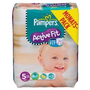Pampers Active Fit taille 5 Junior (11-25 kg) - Pack économique 136 couches
