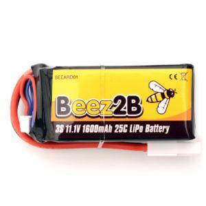 Beez2B Batterie Lipo 3s 11.1V 1600mAh 25C pour Parrot AR Drone 1.0 & 2.0