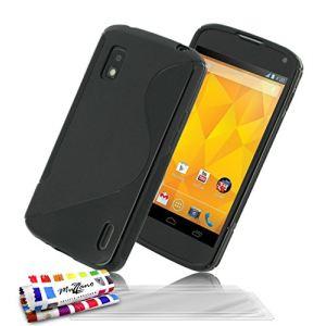 """Muzzano F66S1-98158598 - Étui """"Le X"""" Premium pour LG Nexus 4 E960 + 3 films de protection"""