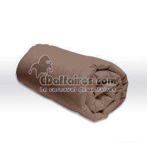 Douceur d'Intérieur Drap housse uni en coton (90 x 190 cm)