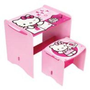 Bureau avec tabouret Hello Kitty