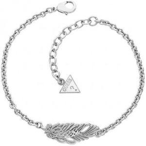 Guess UBB21505 - Bracelet Plume en métal rhodié pour femme
