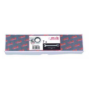 Mob 9002000501 - 7 clés mixtes à cliquet en boite