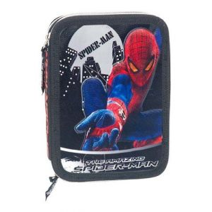 39045 - Plumier double compartiment Spiderman