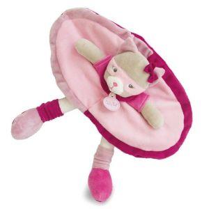 Babynat Doudou plat Chat rose 26 cm