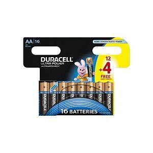 Duracell 16 piles AA LR06 Ultra Power