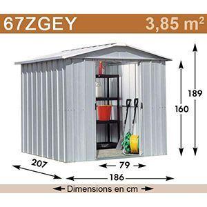 Yardmaster Eco 67ZGEY - Abri de jardin en métal 3,85 m2