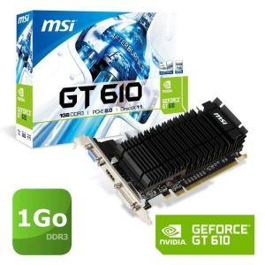 MSI N610-1GD3H/LPV1 - Carte graphique Nvidia GeForce GT 610 1 Go GDDR3 PCIe 2.0
