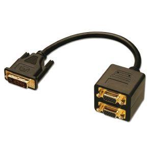 Lindy 41051 - Câble splitter DVI vers 2 VGA