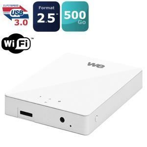 "WE WE1058 - Disque dur externe 500 Go 2,5"" WiFi USB 3.0"