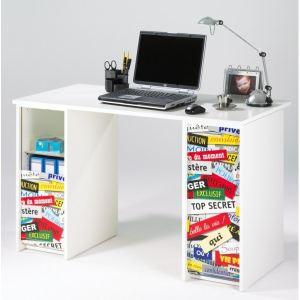 Bureau à rideau imprimé Top Secret