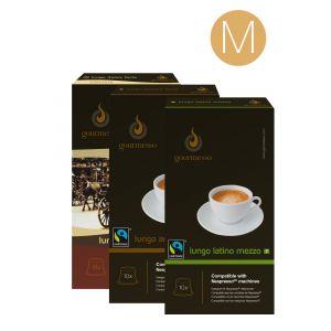 Gourmesso Coffret 180 capsules Lungo M compatibles machines Nespresso