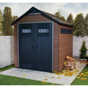 Keter Fusion 757 - Abri de jardin en bois composite et résine 5,15 m2