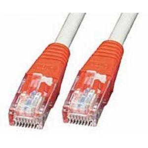 Lindy 44740 - Câble Réseau Cat. 5e UTP croisé Gris rouges 0,3 m