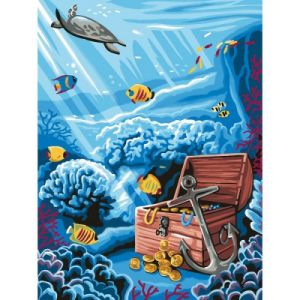 Oz international Peinture au numéro : Trésor englouti