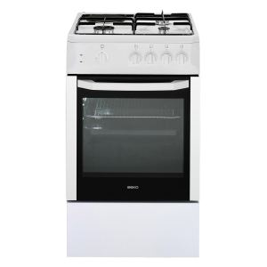 beko css53000dw cuisini re mixte 3 foyers gaz avec four. Black Bedroom Furniture Sets. Home Design Ideas