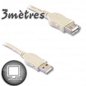 Giada PCUSB211E - Rallonge USB 2.0 type AA M/F 3 m