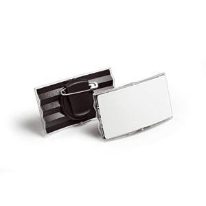 Durable 8128-58 - Badge convexe avec pince combi (75 x 40 mm)