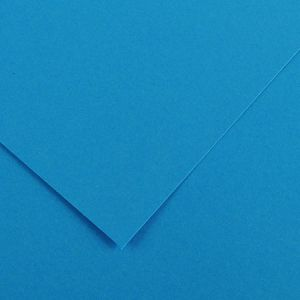 Canson 200040375 - Feuille Iris Vivaldi 50x65 240g/m², coloris bleu azur 22