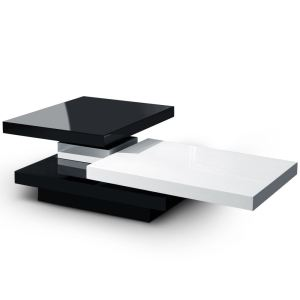Menzzo Table basse Cludo avec plateaux tournants