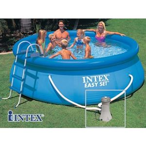 Intex 56934fr piscine hors sol autostable easy set ronde for Piscine hors sol mr bricolage
