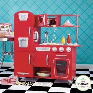 KidKraft 53173 - Cuisine Vintage rouge