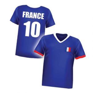 César T-shirt de supporter enfant France N°10