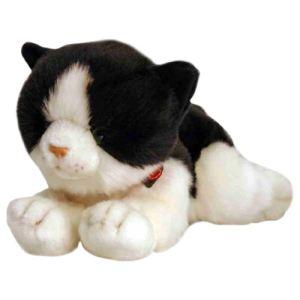 Keel Toys Peluche Chat noir et blanc 30 cm