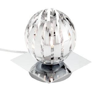 Lampe 1 ampoule en chrome et acrylique (13 cm) 28 W