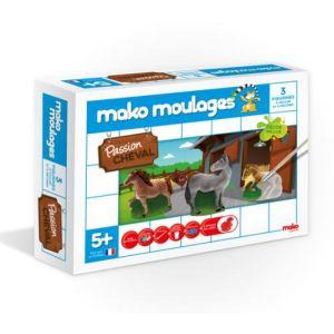 Mako moulages 3 moulages en plâtre : Passion cheval