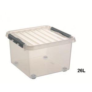 Sunware Boîte à roulette en plastique avec couvercle (26 L)