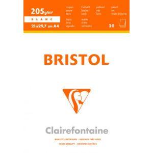 Clairefontaine 96173C - Bloc encollé de 20 feuilles bristol 205 g (A4)