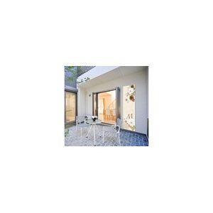 Habitat et Jardin Fleur Beige 0,60 x 1 m - Toile décorative pour terrasse