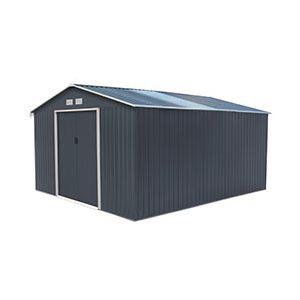 Abri de jardin en métal 15.16 m² et kit d'ancrage offert