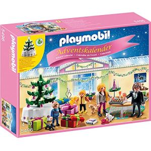 Playmobil 5496 - Calendrier de l'avent Soir de Noël avec arbre lumineux
