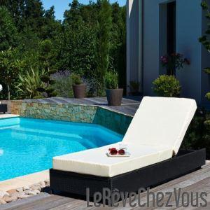 DCB Garden Lit de piscine en résine tressée