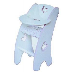 Calinou Chaise haute en bois pour poupon