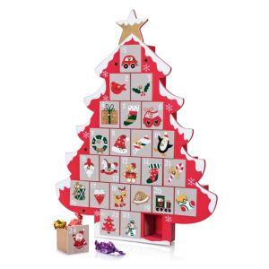 Cadeau Maestro Calendrier de l'avent Sapin de Noël en bois