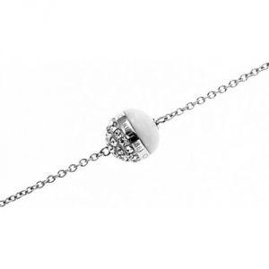 Cerruti R51383WZ - Bracelet perle argenté pour femme