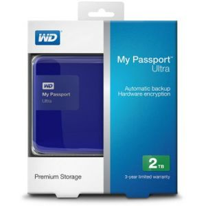 Western Digital WDBBKD0020B - Disque dur externe My Passport Ultra 2 To USB 3.0 AES 256 bits