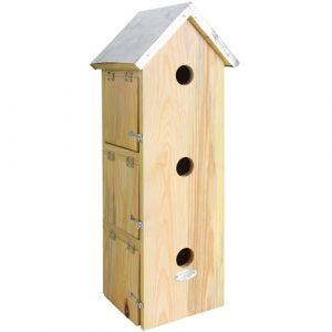 Esschert design Nichoir à moineau 51cm avec 3 nids
